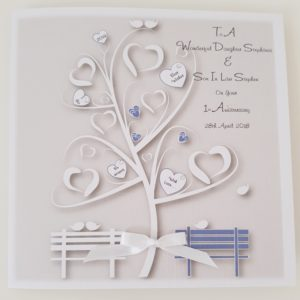 Personalised Anniversary Card Daughter Son In Law Thistle Blue Any Relation Any Age Any Colour