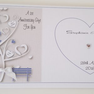 Personalised 1st Anniversary Card Daughter Son In Law Any Relation, Age Or Colour (SKU148)
