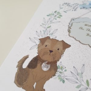 Personalised Bereavement Sympathy Card  Loss Of Your Pet Yorkshire Terrier Any Animal Any Breed