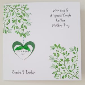 Personalised Wedding Day Card A Special Couple Any Couple Any Colour