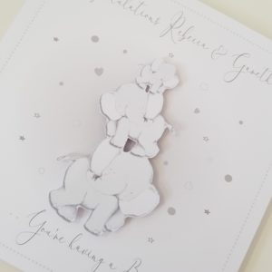 Personalised Congratulations You're Having a Baby Card Expecting Pregnant 3D Elephant Theme
