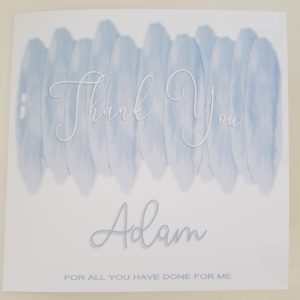 Personalised Thankyou Cards Any Person Any Occasion Any Wording Any Colour