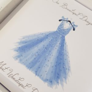 Personalised 8×8 Prom Card Daughter Any Relation Any Dress Colour