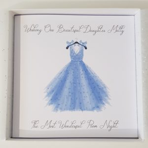Personalised Daughter Prom Card Any Relation Or Dress Colour (SKU138)