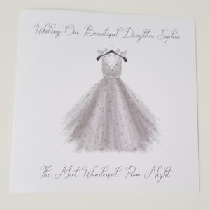 Personalised Daughter Prom Card Any Relation Or Dress Colour (SKU137)