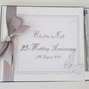 Personalised Guest Book 25th Wedding Anniversary Engagement Birthday Baby Shower Any Event Any Year