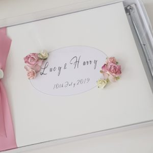 Personalised Guest Book & Pen Wedding Anniversary Engagement Birthday Baby Shower Bridal Shower Any Event Any Colour