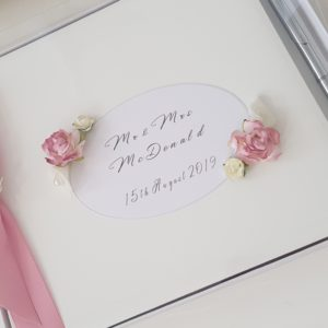 Personalised Guest Book & Pen Mr & Mrs Wedding Day Anniversary Bridal Shower Engagement Birthday Baby Shower Any Event Any Colour