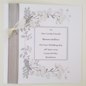 Personalised On Our Wedding Day Card Friends Daughter Son Any Relation Any Occasion Any Colour