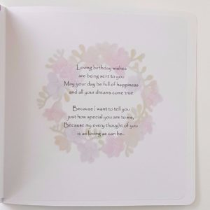 Personalised Freesia Hummingbird Birthday Card Special Friend Any Relation Or Occasion (SKU133)
