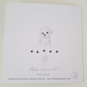 Bereavement Sympathy Card Loss of Pet Dog Bichon Frise Any Breed Any Animal