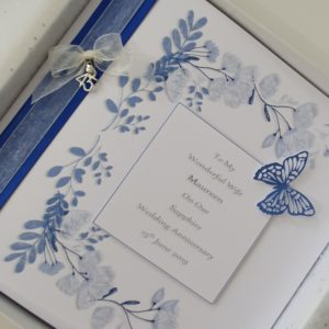 Personalised On Our 45th Sapphire Wedding Anniversary Card Wife Husband Any Relation Any Occasion Any Colour