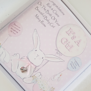 Personalised New Baby Girl Card Any Relation, Occasion Or Colour (SKU114)
