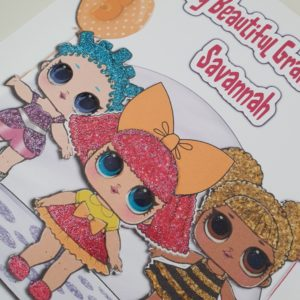 Personalised 5th Birthday Card LOL Surprise Dolls Granddaughter Any Relation Any Occasion Any Colour