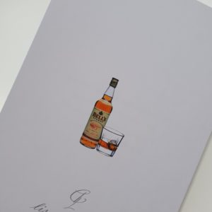 Personalised 65th Whiskey Bottle Birthday Card Husband Any Relation, Age Or Tipple (SKU112)