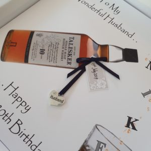Personalised 80th Birthday Card Husband Whiskey Any Relation Any Age Any Tipple