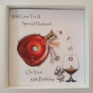 Personalised 50th Birthday Card Cognac Brandy Husband Any Relation Any Occasion Any Tipple