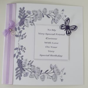 Personalised 40th 50th 60th Birthday Card Friend Wife Sister Any Relation Any Age Any Colour