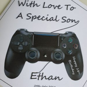 Personalised 18th Birthday Card Son Gaming Playstation Controller Any Age Any Relation Xbox