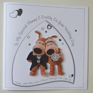 Personalised Mummy & Daddy On Your Wedding Day Boofle Card (SKU60)