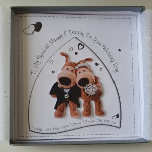 Personalised 8×8 Mummy & Daddy On Your Wedding Day Card Boofle Design