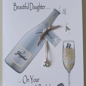 Personalised 30th Prosecco Themed Birthday Card Daughter Any Relation, Age Or Tipple (SKU98)