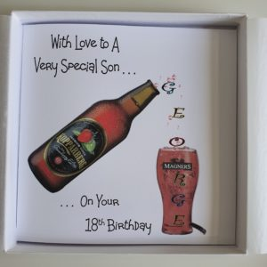 Personalised 18th Birthday Card Son Daughter Bottle Cider Beer Any Age