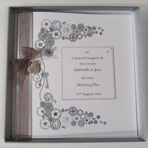 Personalised Steampunk Wedding Day Card Daughter Son In Law Any Relation Any Occasion