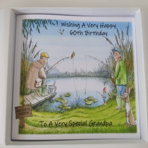 Personalised Large Birthday Card Fishing Theme Grandpa Dad Son Uncle Nephew Son In Law Brother