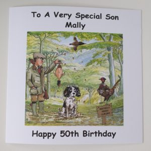 Personalised Birthday Card Shooting Pheasant Theme Grandpa Son Dad  Uncle Nephew Son In Law Brother