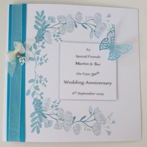 Personalised On Our 50th Wedding Anniversary Card Friends Wife Husband Any Relation Any Occasion Any Colour