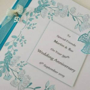 Personalised On Our 50th Wedding Anniversary Card Friends Any Couple, Person, Year Or Colour (SKU80)