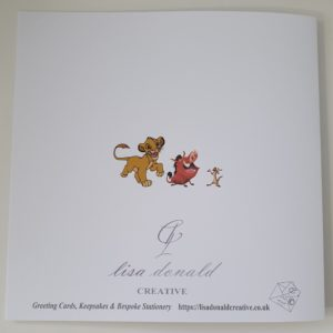 Personalised Lion King Birthday Card Grandson Children 1st Birthday Any Age Or Relation