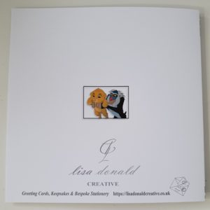 Personalised New Baby Or Christening Card Lion King Simba Rafiki Theme (SKU77)