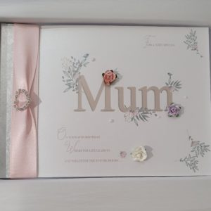 Beautiful Keepsake Card – Book Style – Gift Boxed – Any Person Occasion Colour – Can Be Made For Male Or Female – Birthday Mothers Day New Baby Christening Anniversary Engagment Wedding Day