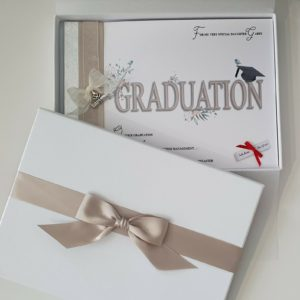 Beautiful Graduation Keepsake Card – Book Style – Gift Boxed – Any Person Colour – Can Be Made For Male Or Female – Congratulations