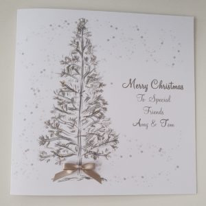 Personalised Christmas Cards Tree Design Special Friends / Special Couple