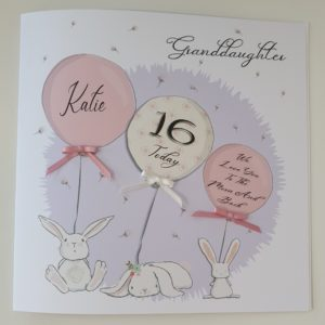 Personalised Birthday Card 16th Granddaughter – Any Relation Any Age Daughter Goddaughter Niece – Love You To The Moon And Back 18th 21st 1st 2nd 3rd 10th 13th