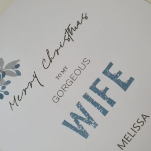 Personalised Christmas Card Modern Contemporary Design  –  Wife Husband Girlfriend Boyfriend Fiancee Lover Someone Special