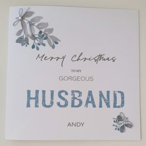 Personalised Christmas Card Modern Contemporary Design  –  Husband Wife Girlfriend Boyfriend Fiancee Lover Someone Special