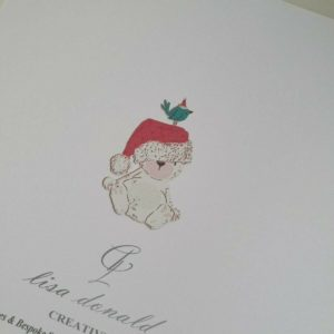 Personalised Baby's First Christmas Card Granddaughter Grandson Any Relation (SKU71)