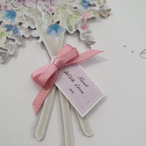 Beautiful Personalised 3D Birthday Card Bouquet Of Flowers Cousin 60th Friend Any Relation / Person /Age / Colour / Occasion
