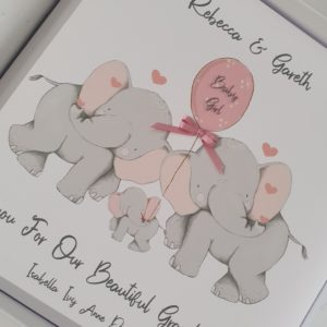 Personalised Thankyou For Our New Granddaughter  New Grandson  New Baby Girl Boy To New Mum & Dad Daughter Son In Law