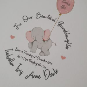 Personalised Thankyou New Baby Beautiful Grandson Or Granddaughter Card (SKU61)
