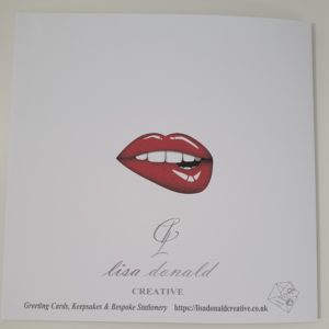 Personalised Sexy Lips Valentines Card (SKU64)