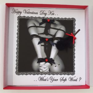 Personalised Large Valentines Card Bondage Naughty Sexy Any Person (SKU63)