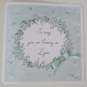 Personalised Leaving Retirement Card Any Colour (SKU48)