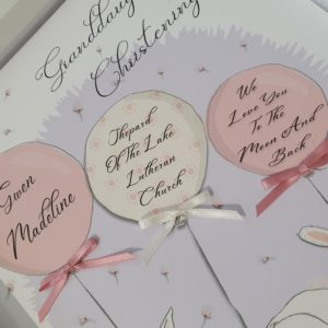 Personalised Christening Card Granddaughter Any Relation Or Colour (SKU54)