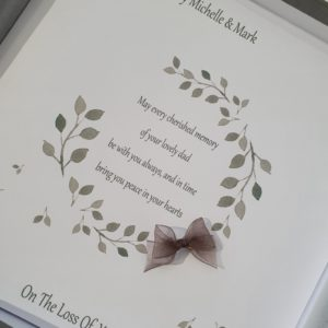 Personalised Bereavement Sympathy Card   Loss Of Dad   Any Relation   Any Colour