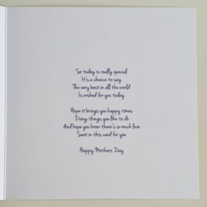 Personalised Floral Design Wonderful Mothers Day Card (SKU59)